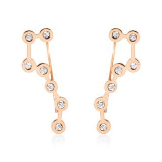 ELYA Rose Gold Big Dipper Crystal Asterism Stainless Steel Dangle Earrings