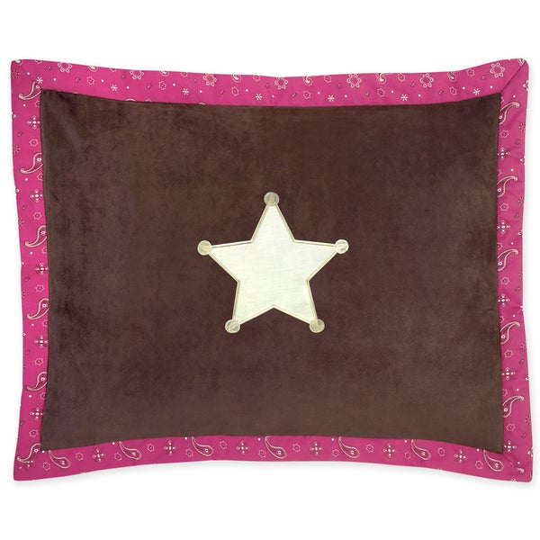 Sweet Jojo Designs Cowgirl Collection Standard Pillow Sham