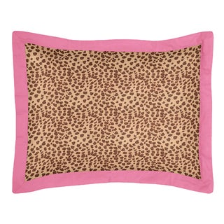 Sweet Jojo Designs Cheetah Girl Collection Standard Pillow Sham