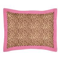 Sweet Jojo Designs Cheetah Girl Collection Standard Pillow Sham