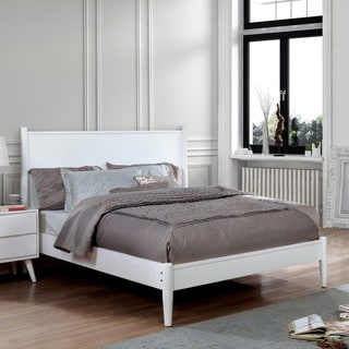 furniture of america corrine mid century modern queen bed
