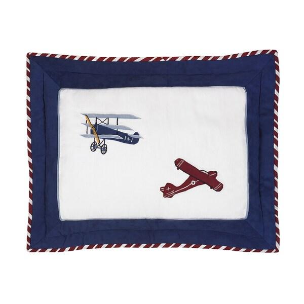Sweet Jojo Designs Vintage Aviator Collection Standard Pillow Sham