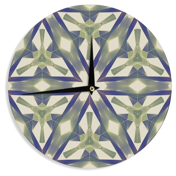 "Kess InHouse Angelo Cerantola ""Lymph"" Geometric Modern Wall Clock 12"""
