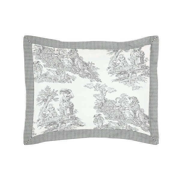 Sweet Jojo Designs Black French Toile Collection Standard Pillow Sham