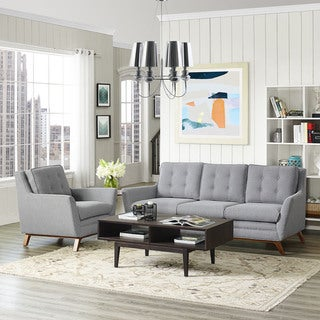 Beguile Tufted Fabric Armchair and Sofa Set