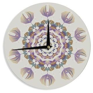 KESS InHouse Angelo Cerantola 'Reach Out' Beige Lavender Wall Clock
