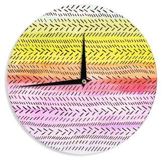KESS InHouse Sreetama Ray 'Sunshine' Warm Paint Wall Clock
