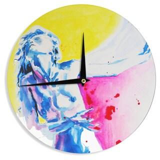 KESS InHouse Cecibd 'Painful' Love Blue Wall Clock