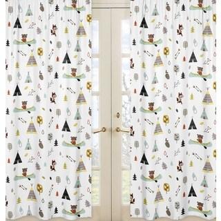 Sweet Jojo Designs Outdoor Adventure Collection Print Window Curtain Panels