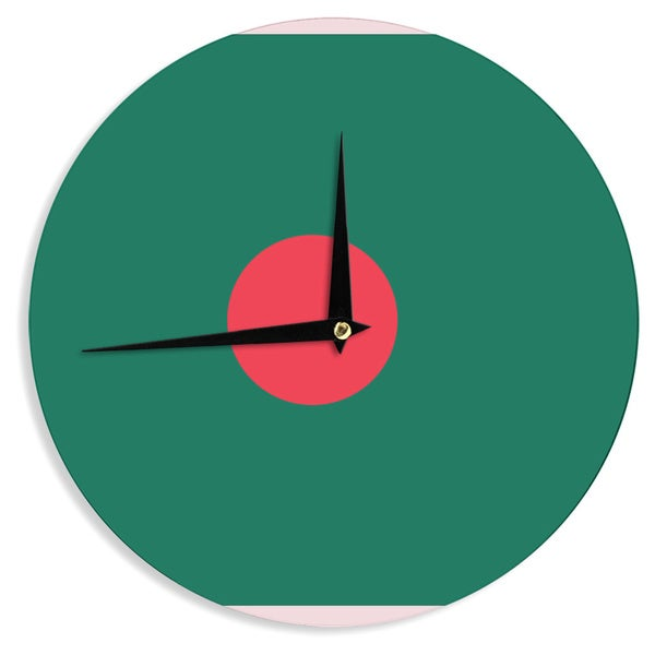 KESS InHouse Bruce Stanfield 'Flag Of Bangladesh' Red Digital Wall Clock