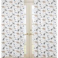 Sweet Jojo Designs Woodland Animals Collection Window Curtain Panels (Set of 2)
