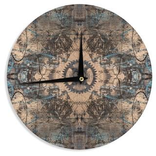 "Kess InHouse Bruce Stanfield ""Zion 1178"" Brown Blue Wall Clock 12"""