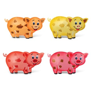 Pig Bobble Metal Magnet (Set of 4)