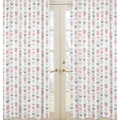 Sweet Jojo Designs Coral and Mint Mod Arrow Collection Window Curtain Panels