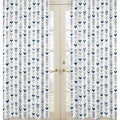 Sweet Jojo Designs Window Curtain Panels for the Grey and Mint Mod Arrow Collection
