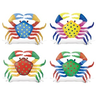 Crab Bobble Metal Magnet (Set of 4)
