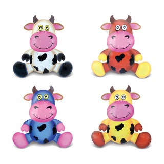 Cow Bobble Metal Magnet (Set of 4)