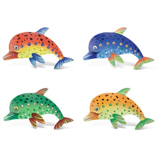 Dolphin Bobble Metal Magnet (Set of 4)