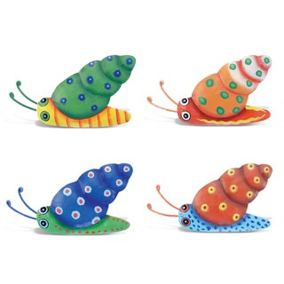 Snail Bobble Metal Magnet (Set of 4)