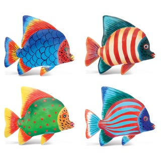 Angel Fish Bobble Metal Magnet (Set of 4)