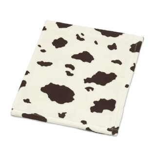 Sweet Jojo Designs Wild West Collection Cow Print Plush Baby Blanket
