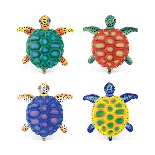 Sea Turtle Bobble Metal Magnets (Set of 4)