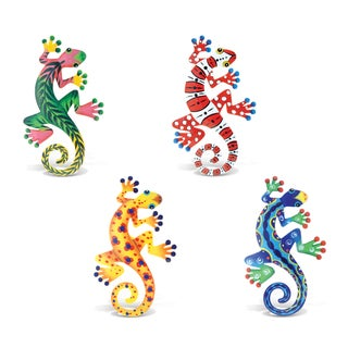 Gecko Bobble Metal Magnet (Set of 4)