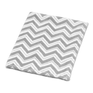Sweet Jojo Designs Grey/Turquoise Blue Zig Zag Collection Plush Baby Blanket