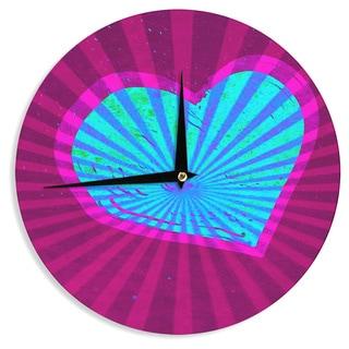 KESS InHouse Anne LaBrie 'Love Light' Blue Modern Wall Clock