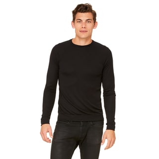 Unisex Big & Tall Black Polyester/Viscose Lightweight Sweater