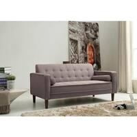 Palm Canyon Carillo Tufted Grey Linen Sofa