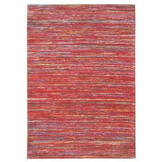 "Recycled Handmade Vintage Sari Silk Rugs (5'x7'.6) - 5' x 7'6"""