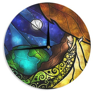KESS InHouse Mandie Manzano 'Psalms' Wall Clock