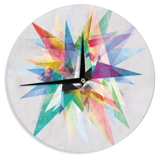 KESS InHouse Mareike Boehmer 'Colorful' Rainbow Abstract Wall Clock