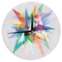 KESS InHouse Mareike Boehmer 'Colorful' Rainbow Abstract Wall Clock