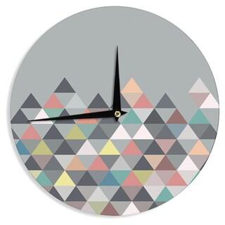 KESS InHouse Mareike Boehmer 'Nordic Combination' Gray Abstract Wall Clock