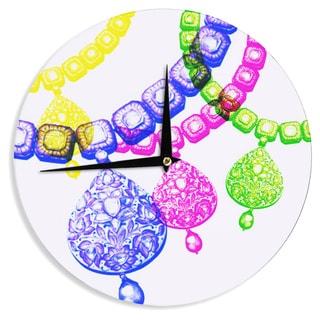 KESS InHouse Sreetama Ray 'Precious' Jewelry Wall Clock