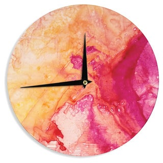 KESS InHouse Malia Shields 'Color River IV' Orange Pink Wall Clock