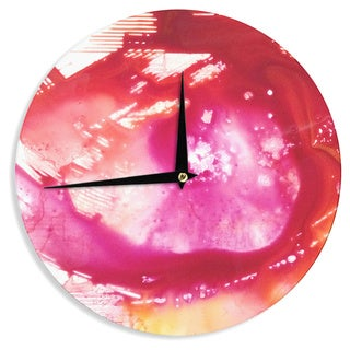 KESS InHouse Malia Shields 'The Color River II' Pink Red Wall Clock