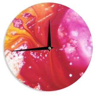 KESS InHouse Malia Shields 'The Color River III' Orange Red Wall Clock