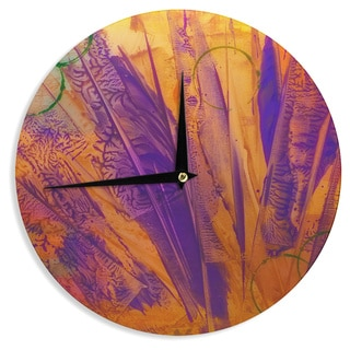 KESS InHouse Malia Shields 'Together' Purple Orange Wall Clock