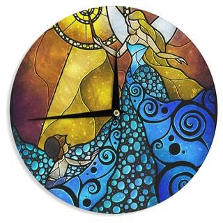 12-Inch Kess InHouse Myan Soffia Balance Blue Tan Wall Clock