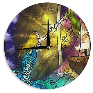 KESS InHouse Mandie Manzano 'Fairy Tale off to Neverland' Wall Clock