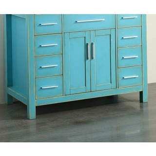 Bosconi SB-252-7DSFGMC Sea Foam Green Wood 43-inch Main Vanity Cabinet
