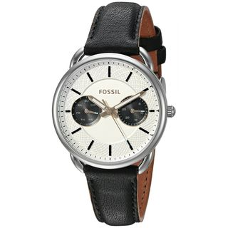 Fossil Women's ES3953 'Tailor' Multi-Function Black Leather Watch