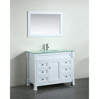 Bosconi 43-inch White Vanity Cabinet with No Top