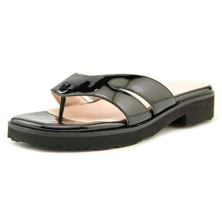 Taryn Rose Women's Trista Black Patent Leather Sandals