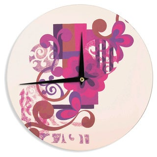 KESS InHouse Louise Machado 'Lilac' Wall Clock