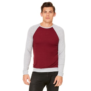 Unisex Big and Tall Maroon/Athletic Heather Lightweight Sweater