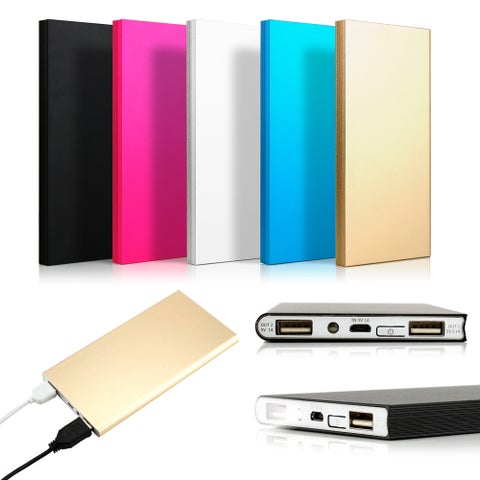 Gearonic 20000mah Ultra Thin Power Bank Backup Battery for Cell Phone